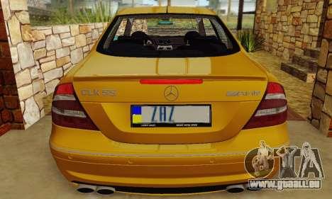 Mercedes-Benz CLK55 AMG 2003 pour GTA San Andreas vue de dessus