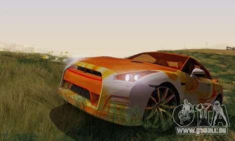 Nissan GTR Heavy Fire für GTA San Andreas