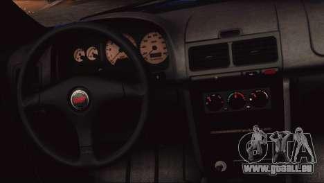 Subaru Impreza 22B STi 1998 für GTA San Andreas Innenansicht