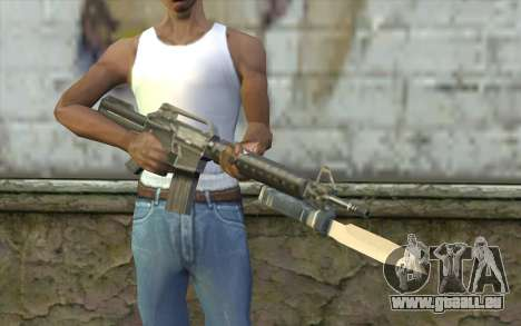 M4A1 avec une baïonnette pour GTA San Andreas troisième écran
