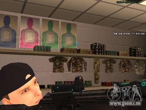 AK-74 pour GTA San Andreas quatrième écran