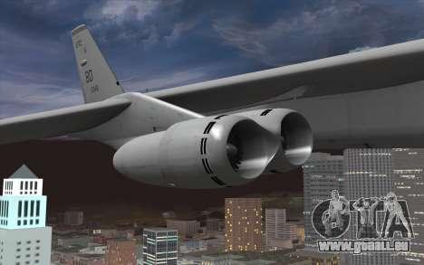 Boeing B-52H Stratofortress pour GTA San Andreas vue de droite