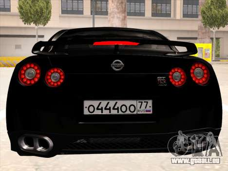 Nissan GTR-R35 Spec-V pour GTA San Andreas vue arrière
