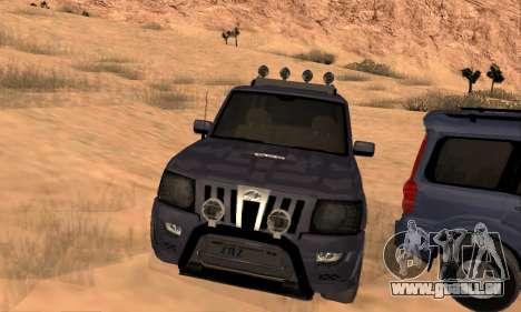 Mahindra Scorpio für GTA San Andreas Unteransicht