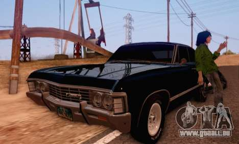 Chevrolet Impala 1967 Supernatural für GTA San Andreas rechten Ansicht