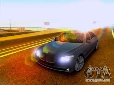 BMW 750li pour GTA San Andreas laissé vue