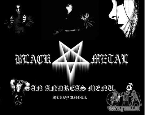 Black-Metal-Menü (Vollbild -) für GTA San Andreas