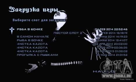 Black-Metal-Menü (Vollbild -) für GTA San Andreas her Screenshot