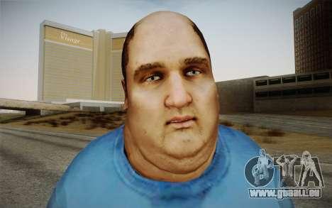 Dicker Ehegatte pour GTA San Andreas troisième écran