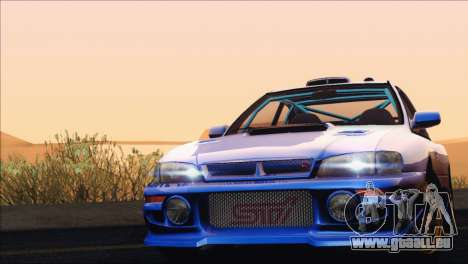 Subaru Impreza 22B STi 1998 pour GTA San Andreas vue de dessus