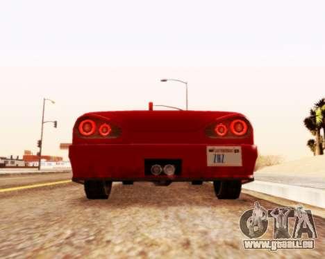 Élégie Convertibles v1.1 pour GTA San Andreas sur la vue arrière gauche