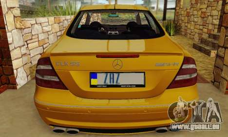 Mercedes-Benz CLK55 AMG 2003 pour GTA San Andreas vue intérieure