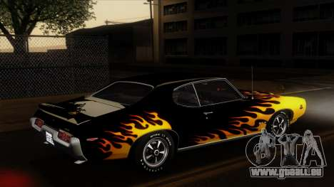 Pontiac GTO The Judge Hardtop Coupe 1969 für GTA San Andreas obere Ansicht