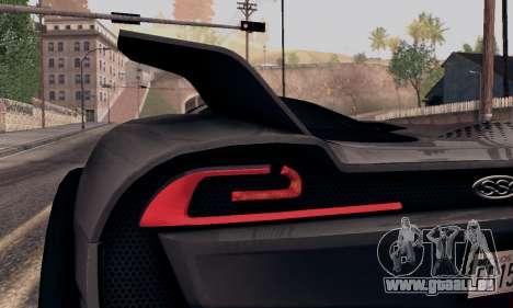 SSC Tuatara 2011 für GTA San Andreas Rückansicht