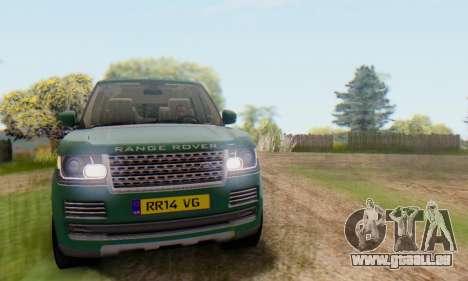 Range Rover Vogue 2014 V1.0 UK Plate pour GTA San Andreas vue de côté