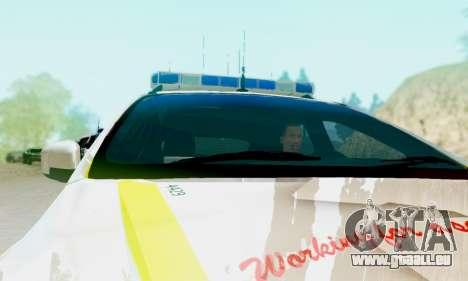Ford Focus ST 2013 British Hampshire Police für GTA San Andreas zurück linke Ansicht