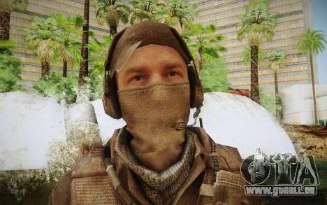 Mercenaire en armure (COD MW3) pour GTA San Andreas troisième écran