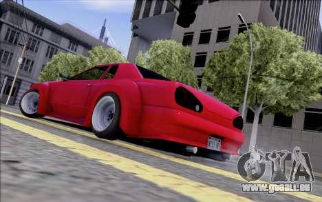 Elegy Rocket Bunny pour GTA San Andreas sur la vue arrière gauche