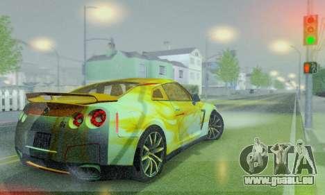 Nissan GTR Heavy Fire für GTA San Andreas Innenansicht