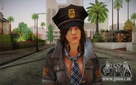 Helena Harper Police Version für GTA San Andreas dritten Screenshot