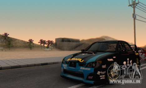 Subaru Impreza WRC STI Black Metal Rally pour GTA San Andreas vue de côté