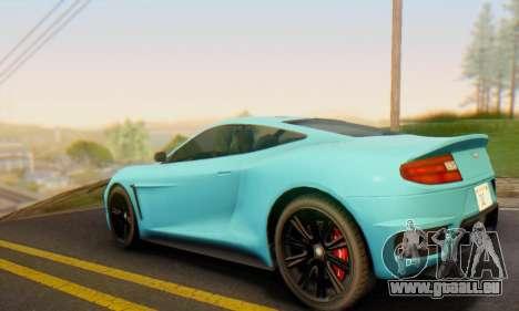 Dewbauchee Massacro 1.0 für GTA San Andreas zurück linke Ansicht