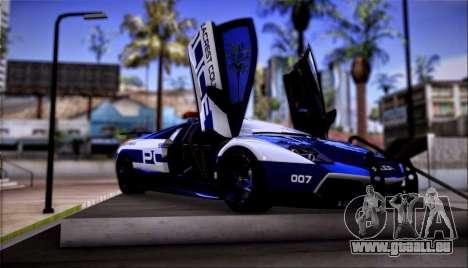 Lamborghini Critiques LP670-4 SuperVeloce, 2010 pour GTA San Andreas laissé vue
