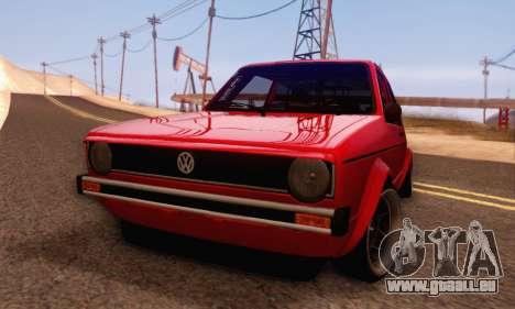 Volkswagen Golf Mk I Punk für GTA San Andreas zurück linke Ansicht