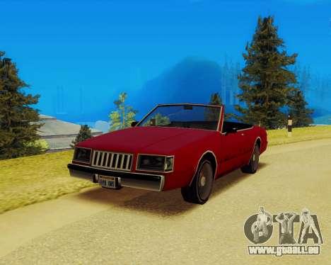 Majestueux Convertible pour GTA San Andreas