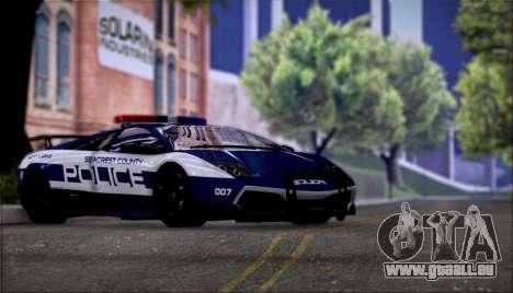 Lamborghini Critiques LP670-4 SuperVeloce, 2010 pour GTA San Andreas vue arrière