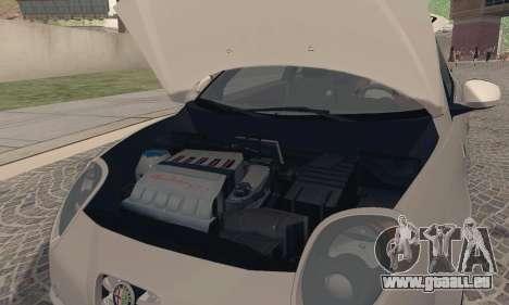 Afla Romeo Mito Quadrifoglio Verde für GTA San Andreas Rückansicht