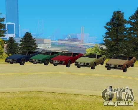 Majestueux Convertible pour GTA San Andreas sur la vue arrière gauche