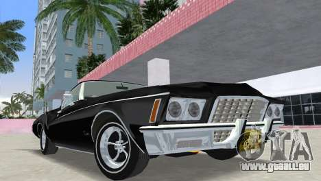Buick Riviera 1972 Boattail für GTA Vice City Rückansicht
