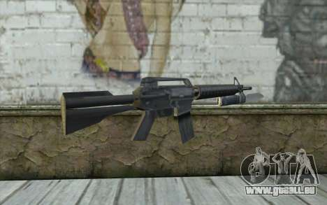 M4A1 avec une baïonnette pour GTA San Andreas deuxième écran