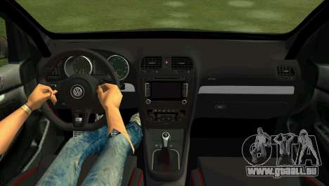 Volkswagen Golf GTI W12 pour une vue GTA Vice City de la droite