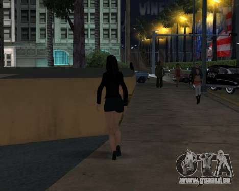 Black Dressed Girl für GTA San Andreas her Screenshot