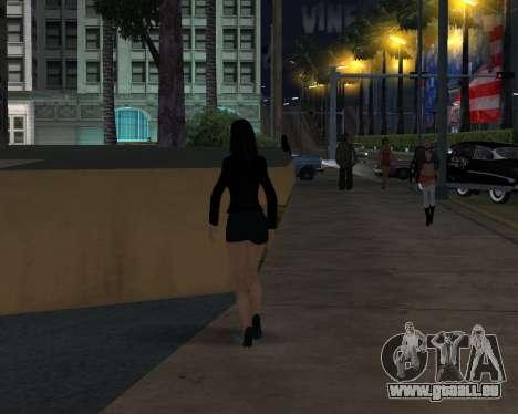 Black Dressed Girl für GTA San Andreas her Screenshot