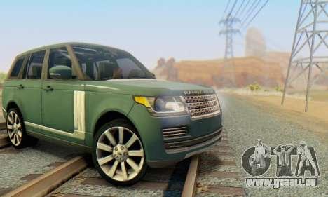 Range Rover Vogue 2014 V1.0 Interior Nero pour GTA San Andreas