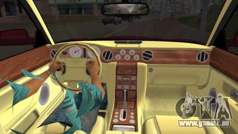 Bentley Arnage T 2005 für GTA Vice City rechten Ansicht