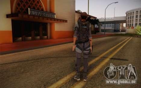 Jill Valentine from Resident Evil: Revelations für GTA San Andreas zweiten Screenshot