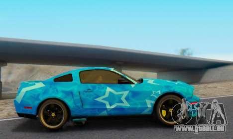 Ford Mustang Shelby Blue Star Terlingua pour GTA San Andreas laissé vue