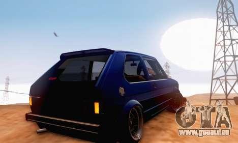 Volkswagen Golf Mk I Punk für GTA San Andreas Rückansicht