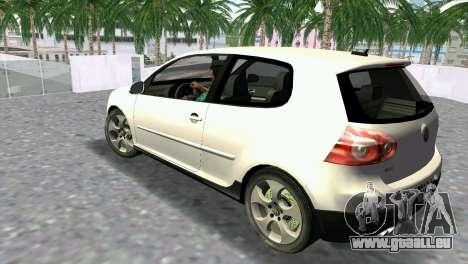 Volkswagen Golf V GTI pour une vue GTA Vice City de la gauche