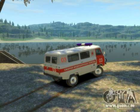 UAZ 39629 Ambulance pour GTA 4 est une gauche