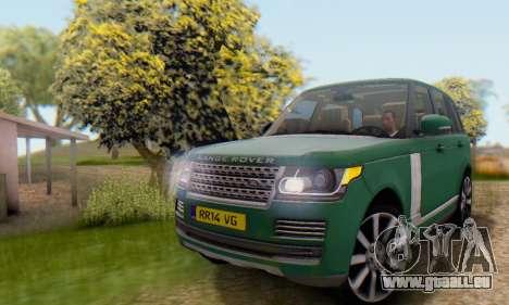 Range Rover Vogue 2014 V1.0 UK Plate pour GTA San Andreas vue intérieure