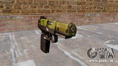Pistolet FN Cinq à sept Woodland pour GTA 4