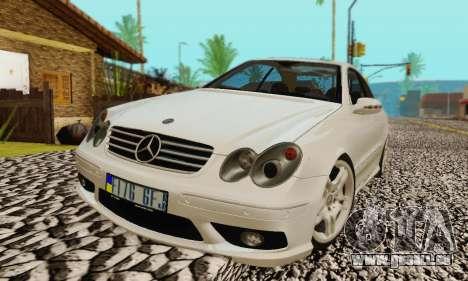 Mercedes-Benz CLK55 AMG 2003 pour GTA San Andreas moteur