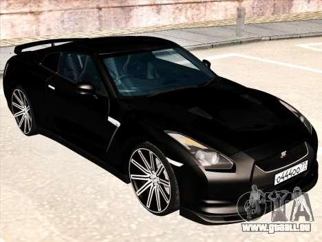 Nissan GTR-R35 Spec-V pour GTA San Andreas laissé vue