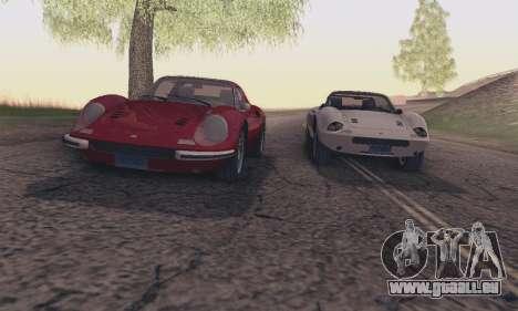 Ferrari Dino 246 GTS Coupe pour GTA San Andreas vue de dessous