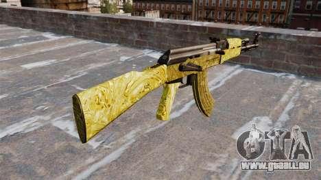 Die AK-47 Gold für GTA 4 Sekunden Bildschirm